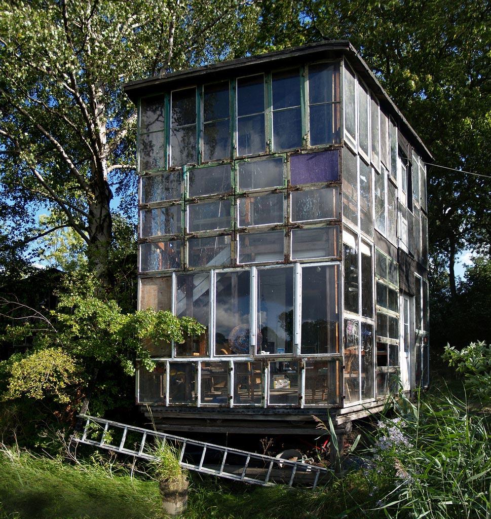 Glass pane house