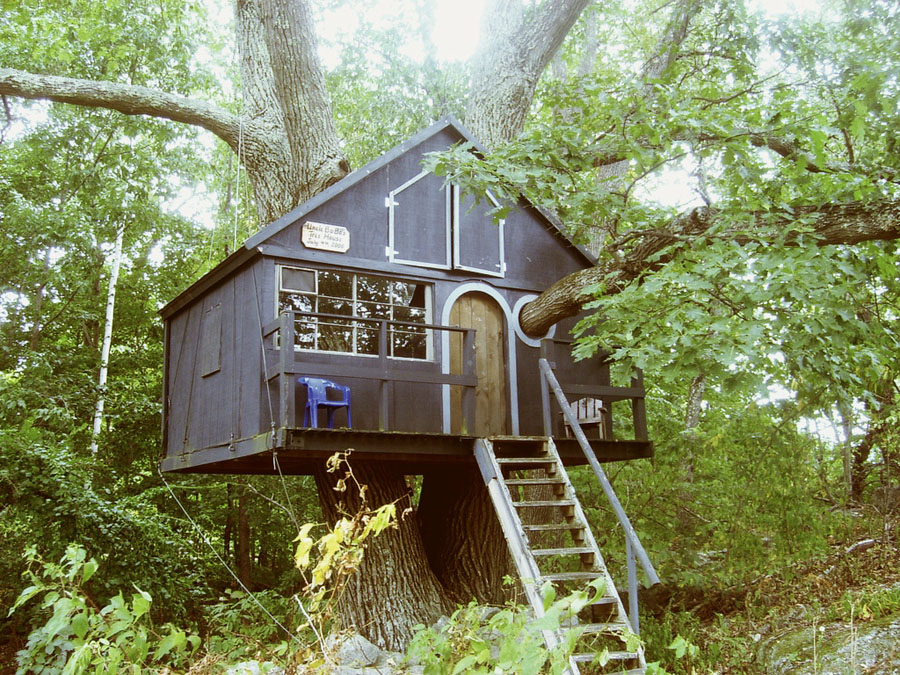 Tiny treehouse tiny house swoon for Small tree house