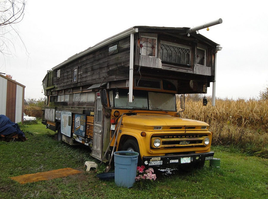 converted school bus Tiny House Swoon