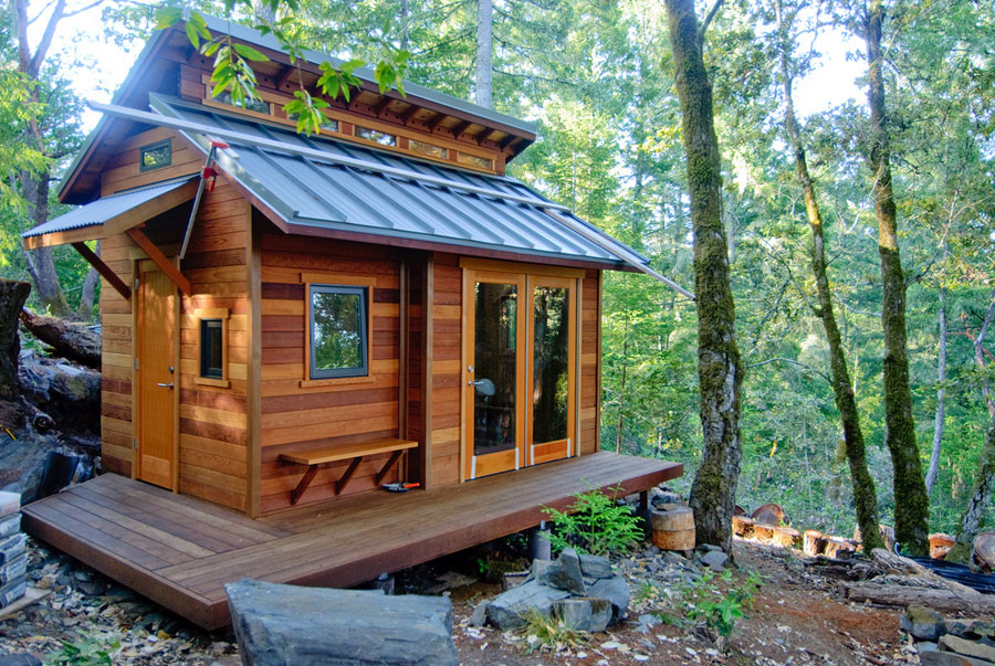 tiny house in the woods of sonoma county california photos by benjamin chun - Tiny Houses California