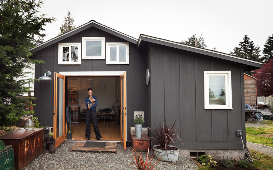 Converted garage tiny house tiny house swoon - The tiny house in the garage ...