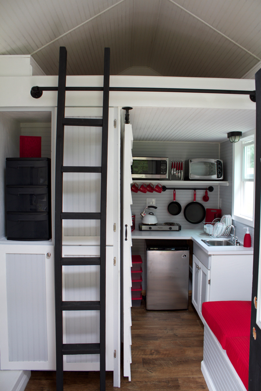 Tiny House With Loft la tiny house with smart staircase to loft My