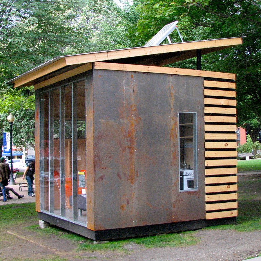 a 100 square feet microhouse designed by northern timbers construction photos by don shall