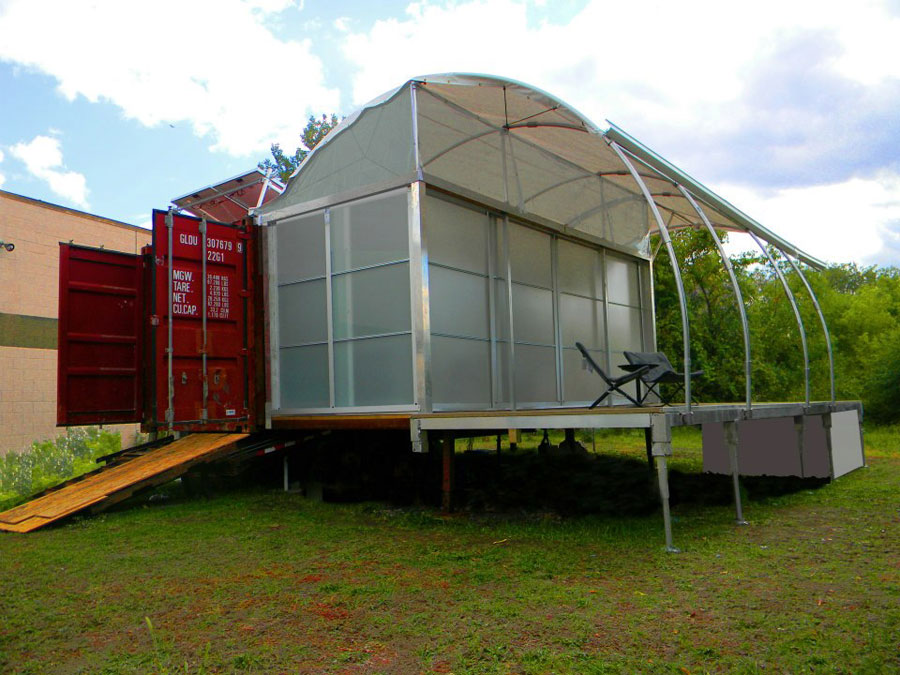 Off grid container house tiny house swoon - Ft container home ...