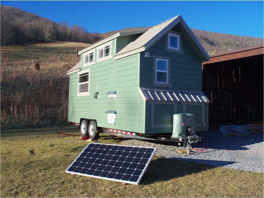 Little green house on wheels tiny house swoon for Micro homes on wheels