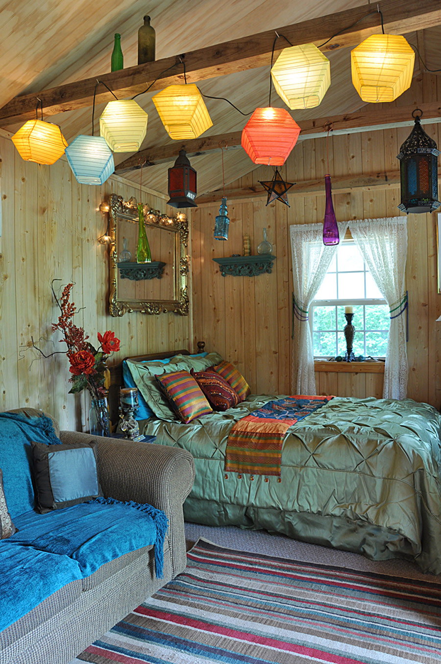 little bohemian cabin tiny house swoon. Black Bedroom Furniture Sets. Home Design Ideas