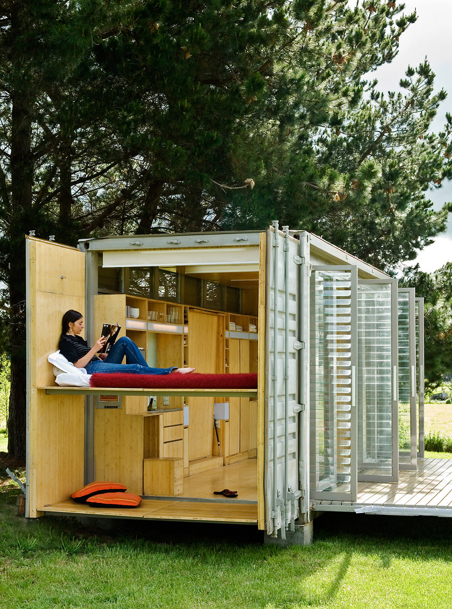Port a bach container house tiny house swoon - In house container homes ...
