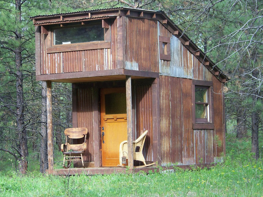 Potomac cabin tiny house swoon for Tiny hunting cabin