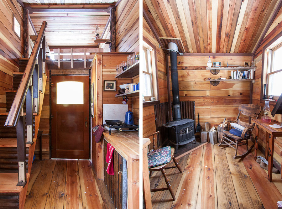 Potomac cabin tiny house swoon for Small cabin interiors photos