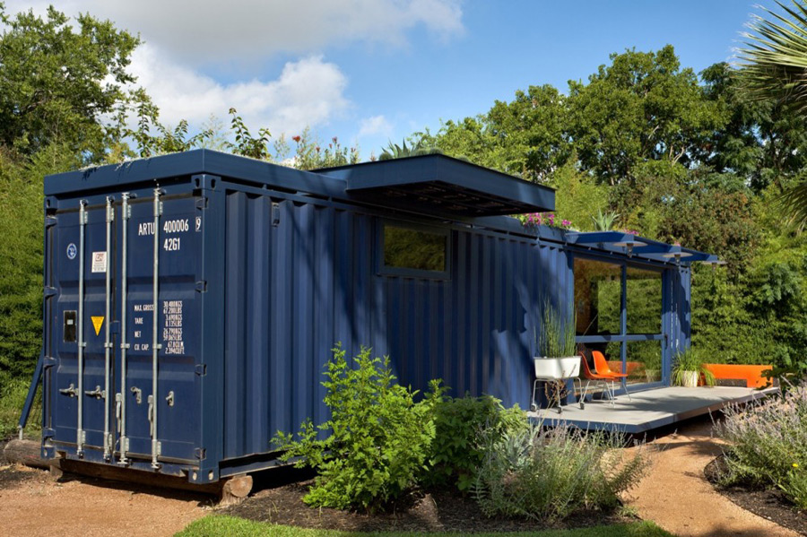 Green roof container house tiny house swoon - Container home florida ...