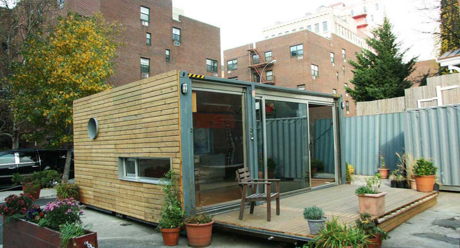 container box home tiny house swoon. Black Bedroom Furniture Sets. Home Design Ideas