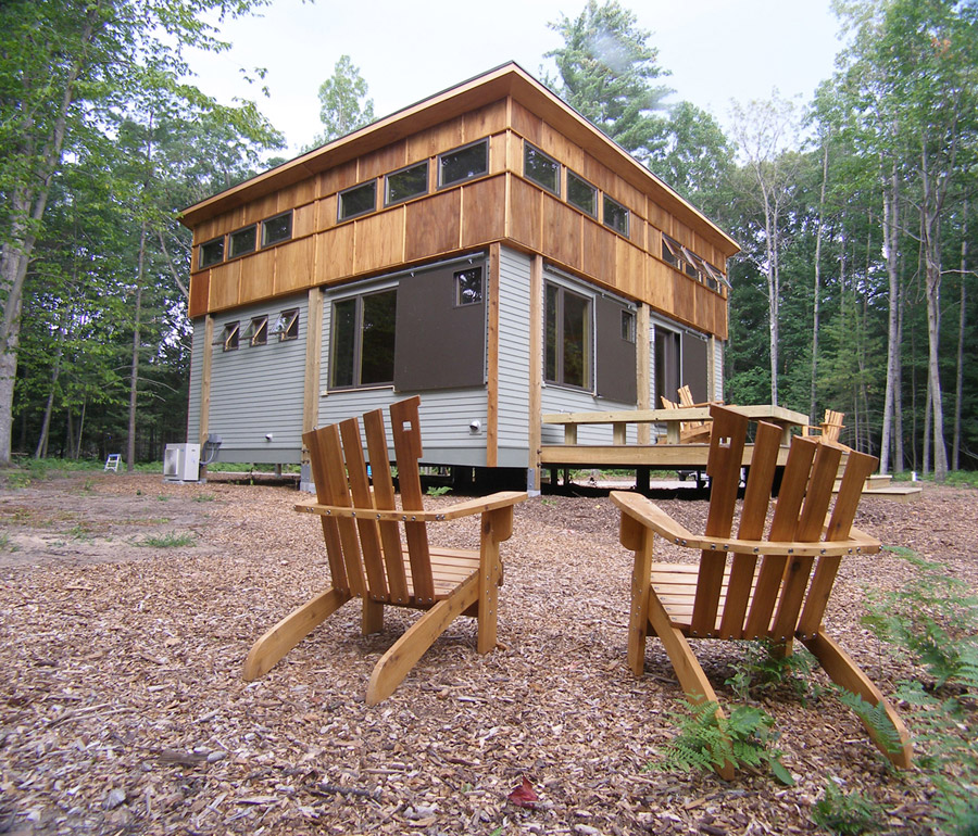 Pre fab cottage tiny house swoon for Modular cabins and cottages