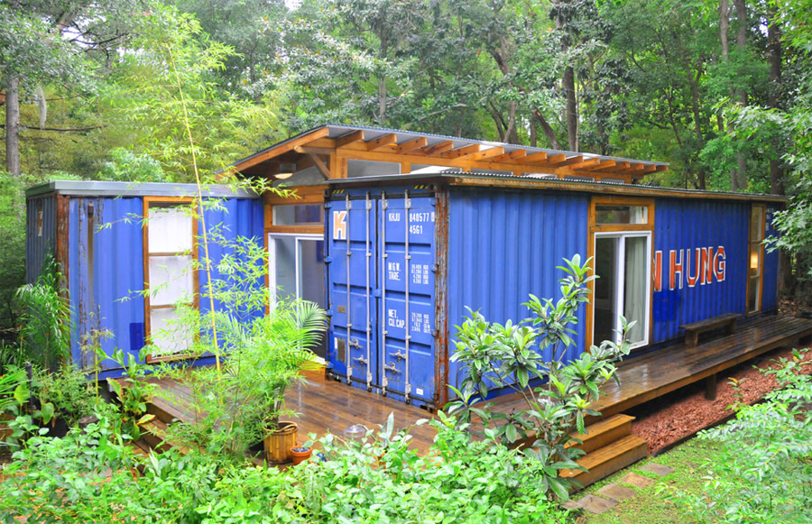 savannah container home tiny house swoon. Black Bedroom Furniture Sets. Home Design Ideas