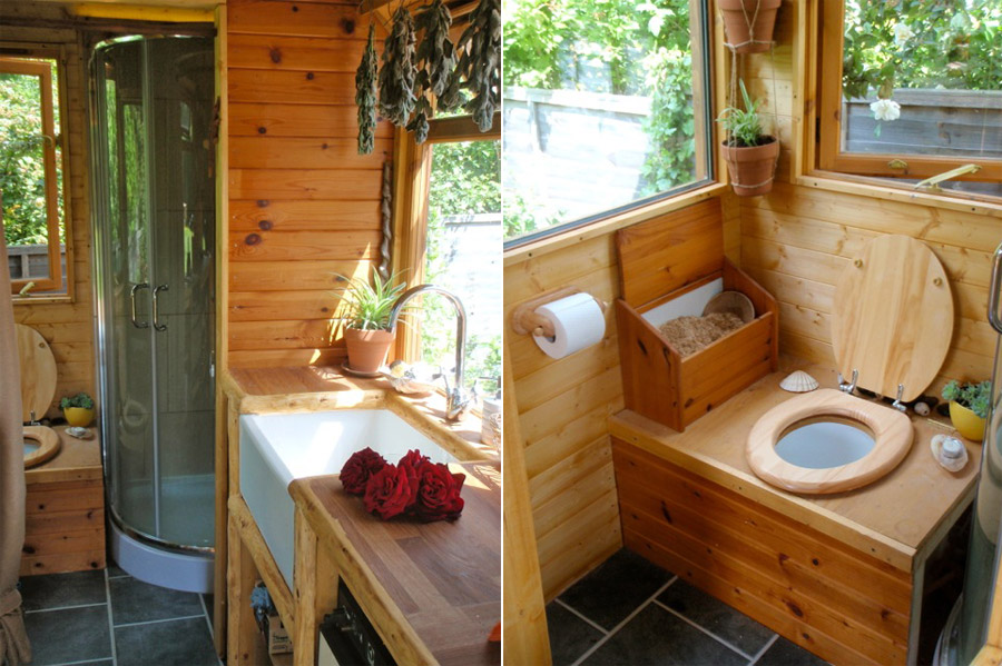 Kitchen and Bathroom. Off Grid Portable Wagon   Tiny House Swoon