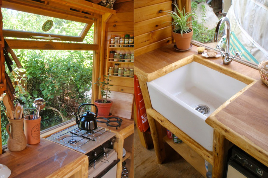 Captivating Kitchen Off Grid Portable Wagon Tiny House Swoon