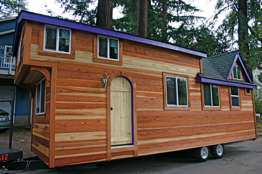 redwood tiny house a - Tiny House On Wheels Plans