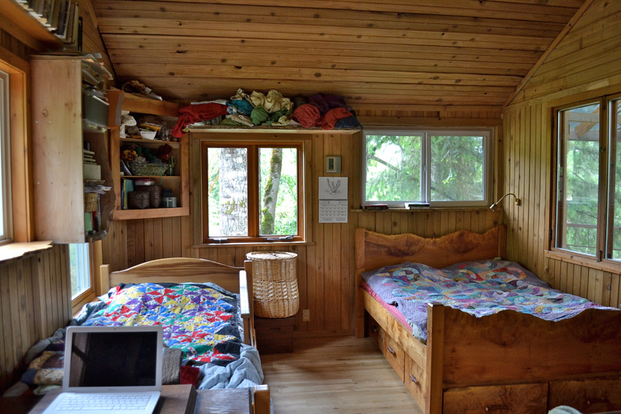 Wayward spark cabin tiny house swoon 200 sqft office interior