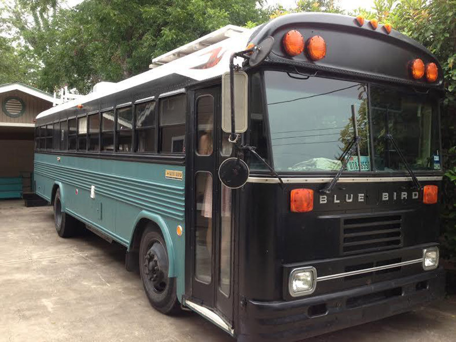 converted blue bird bus tiny house swoon