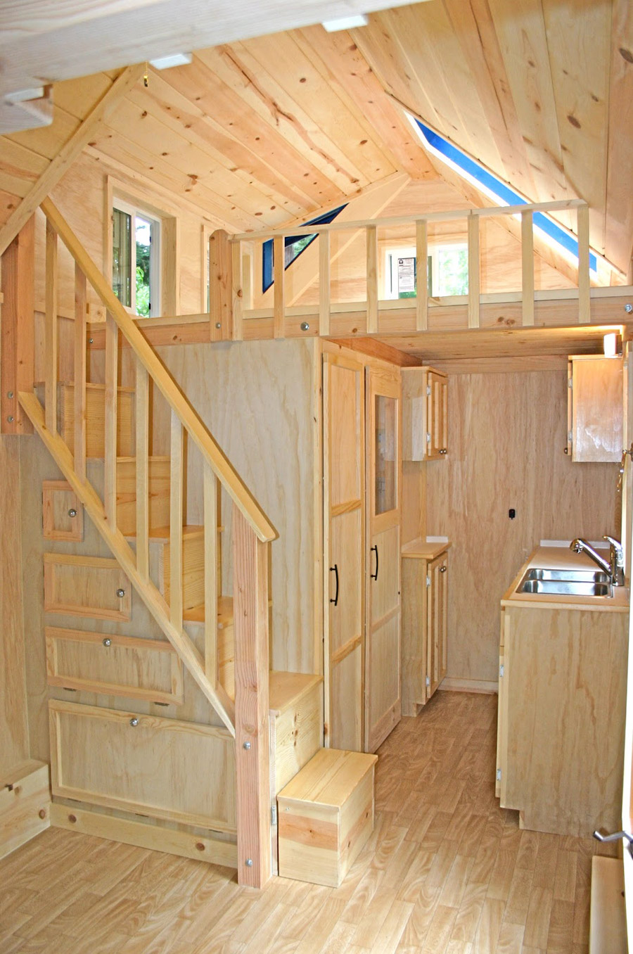 Tiny Home Packs Storage Stairs ...