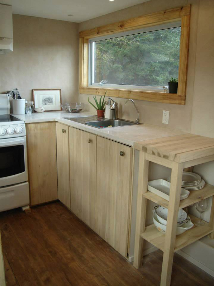 Tiny home kitchen - Chemical Free Tiny House A