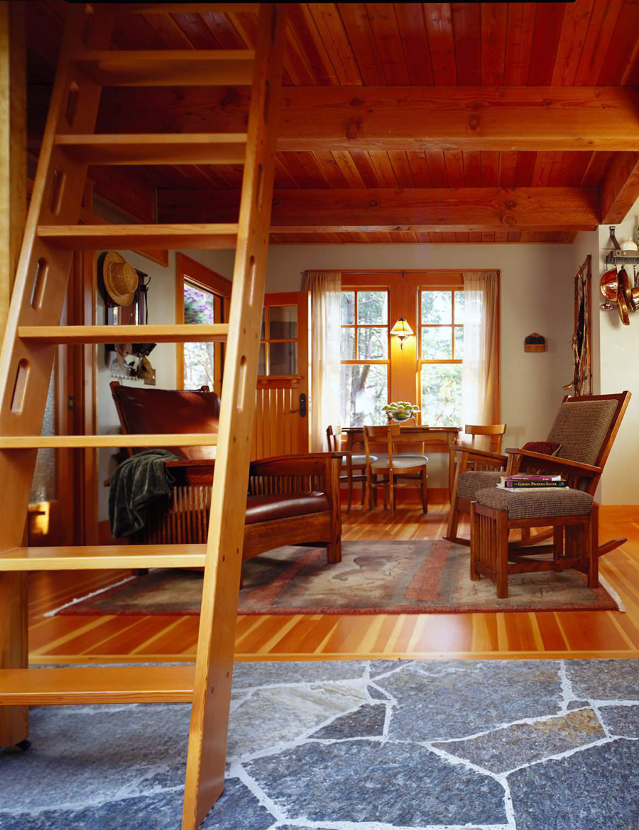 Orcas island cabin tiny house swoon for How to build a small cabin with a loft