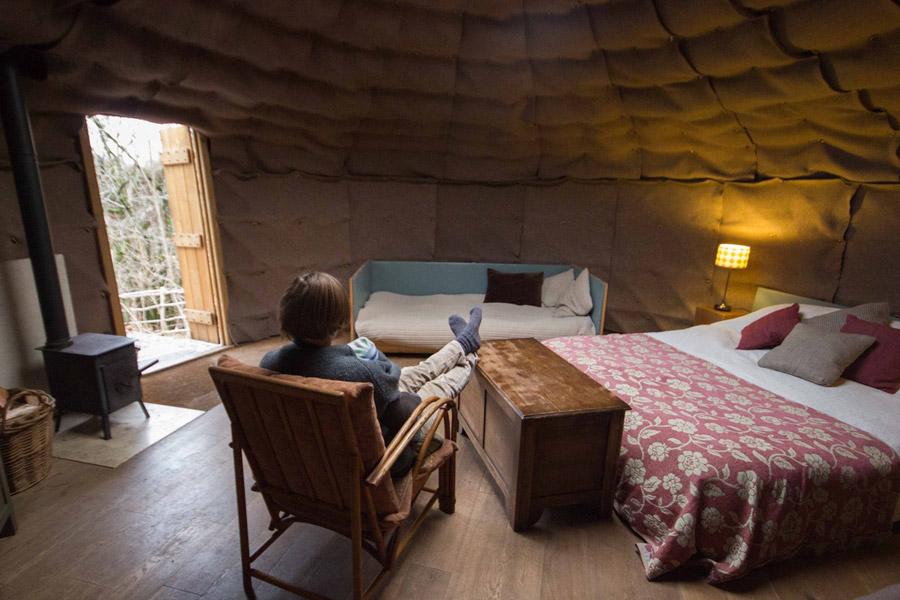 Woodland Yurt Tiny House Swoon