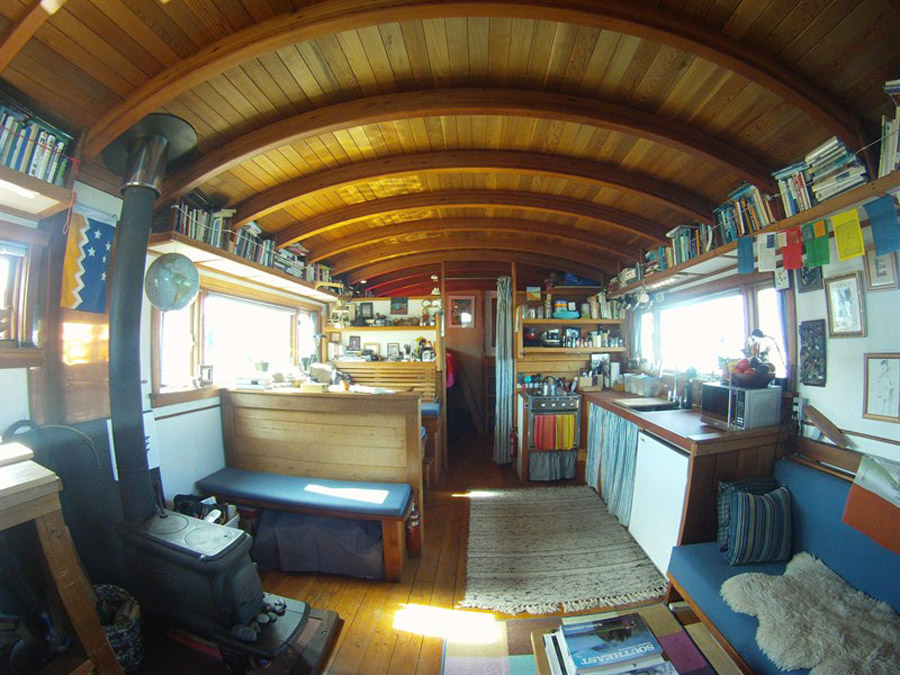 pintxos houseboat tiny house swoon - Small Houseboat