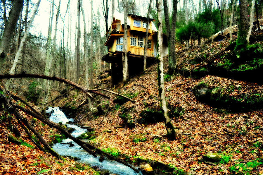 Green Mountain Treehouse Tiny House Swoon