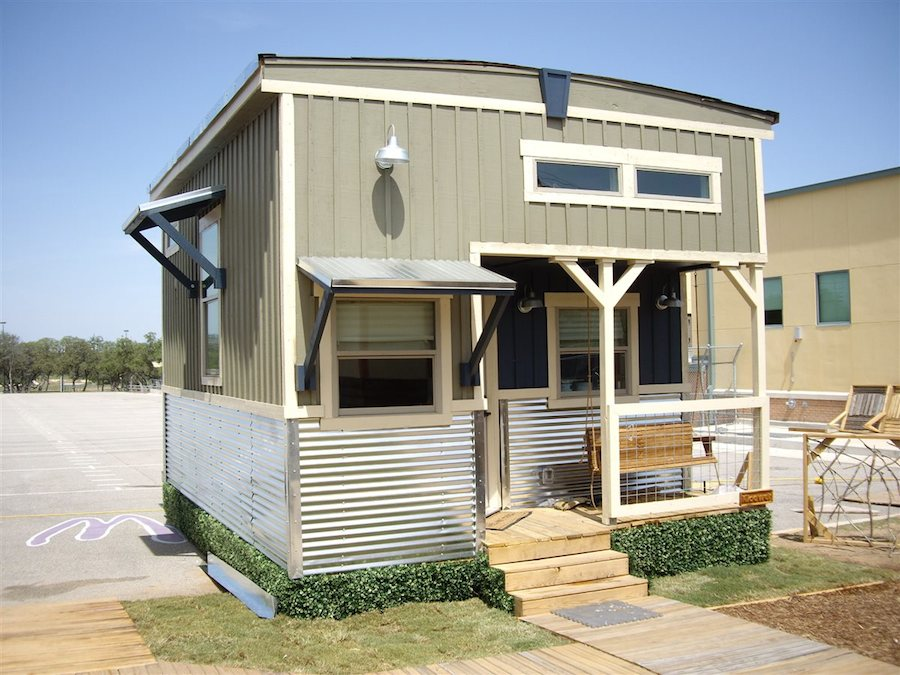 Tiny House With Loft liberation tiny homes Indian Blanket Loft