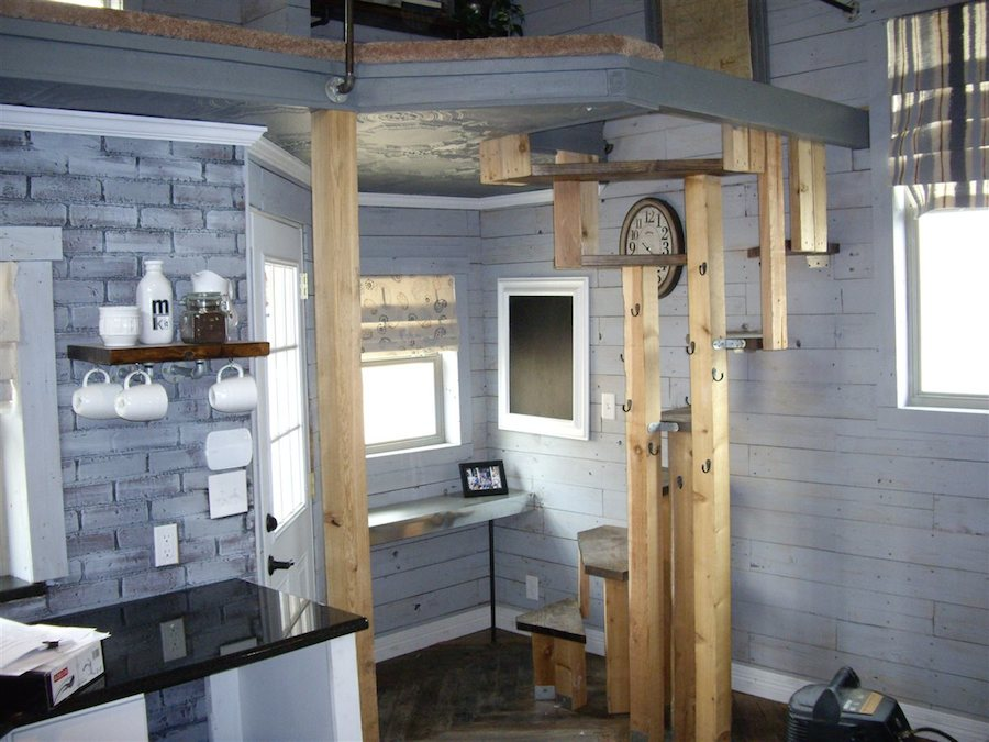 Tiny House With Loft the trinity tiny by alabama tiny homes with its unique back wall of the house located loft staircase i am surprised that more designs do not incorporate Indian Blanket Loft 3