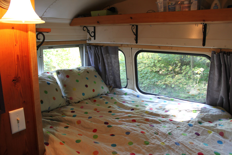 Sarahs Bluebird Bus Tiny House Swoon