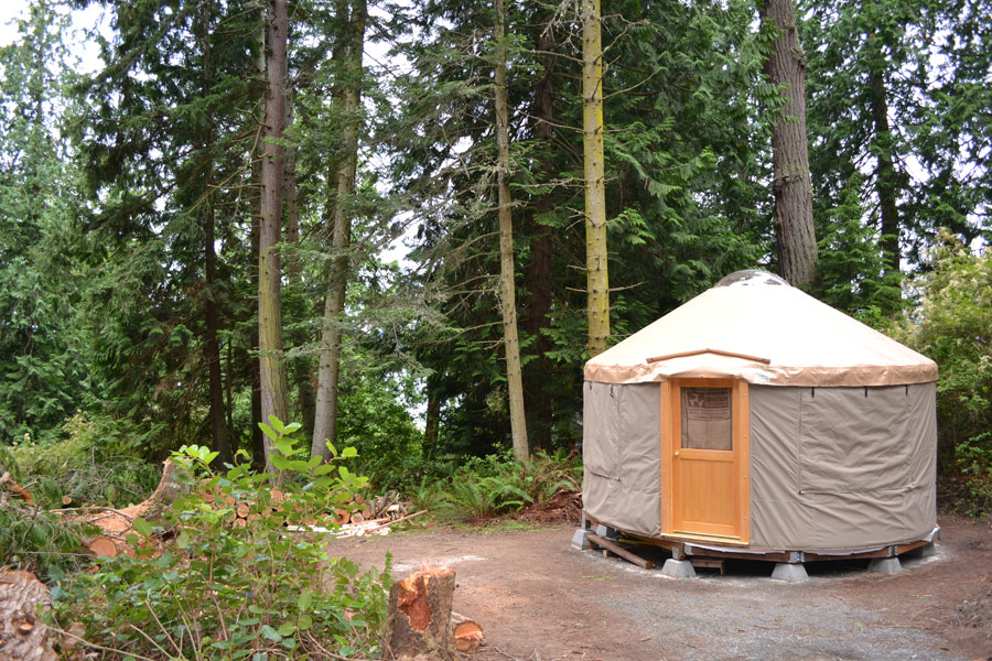 Whidbey Island Yurt Tiny House Swoon