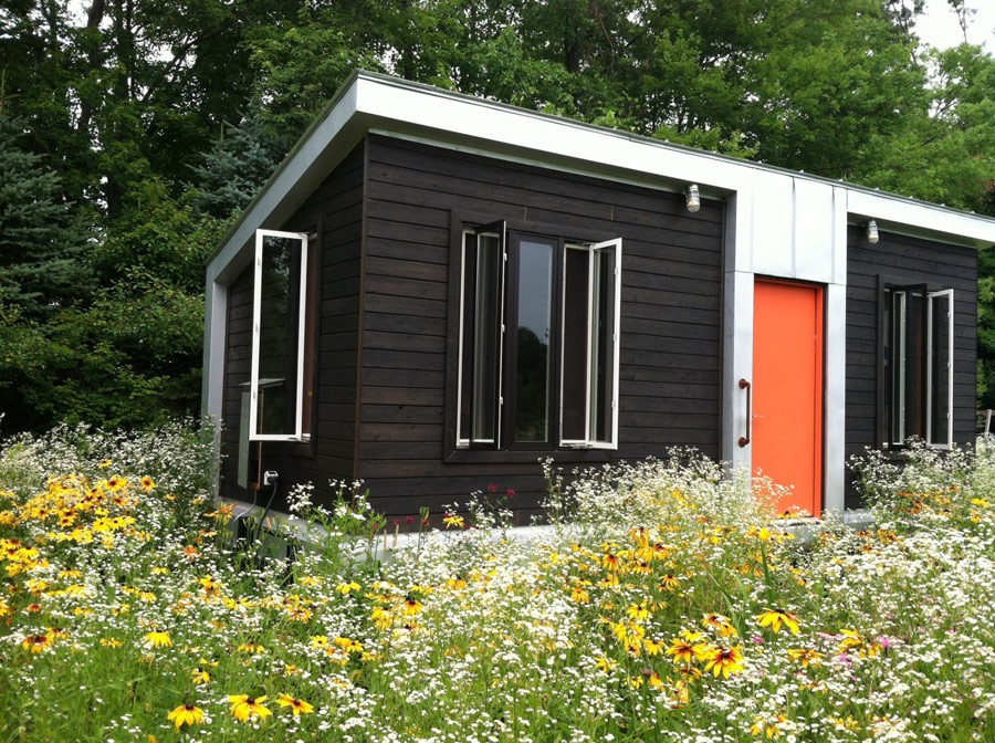 Yestermorrow design build school tiny house swoon for Modern mini homes