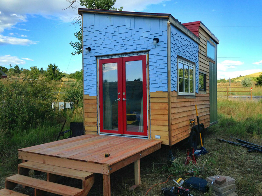 Tiny House Modern the miterbox tiny house on wheels 003 Beautiful Modern