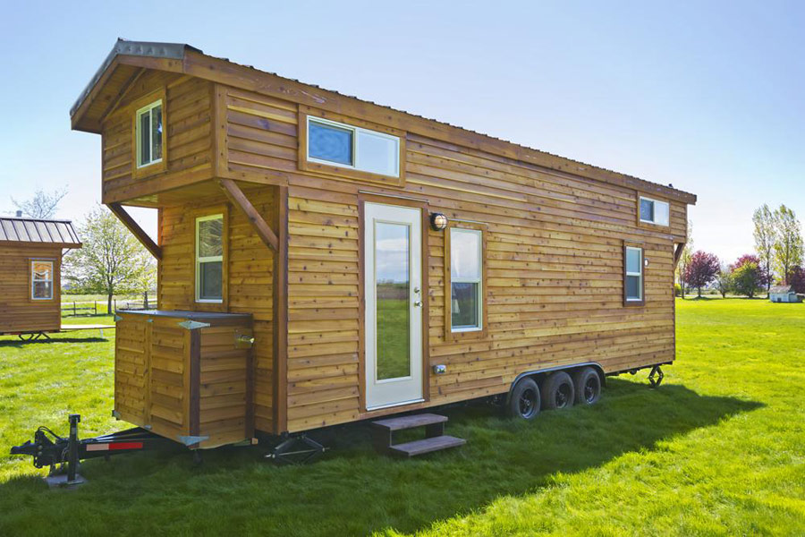 Tiny House With Loft 230 sq ft v house by nelson tiny houses The Loft Tiny House Living 1