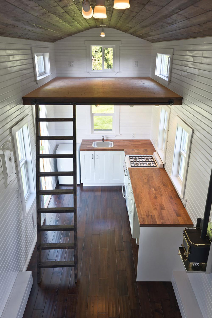 The loft tiny house swoon for Tiny house interior ideas