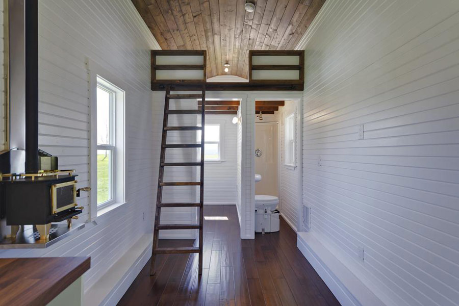 The loft tiny house swoon for Small house design loft