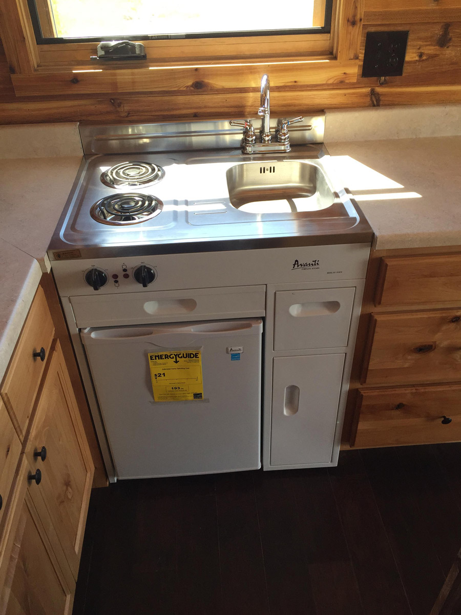 ... Mountain Style 3 All In One Kitchen Unit Chairs Island Faucet Sink  Stove ...