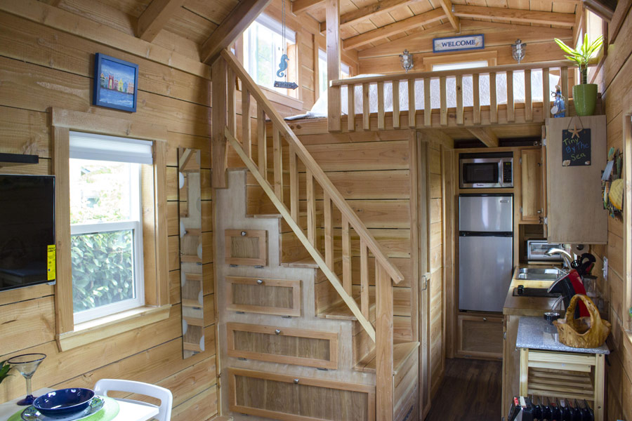 craftsman tiny house 2 - Tiny House Stairs 2