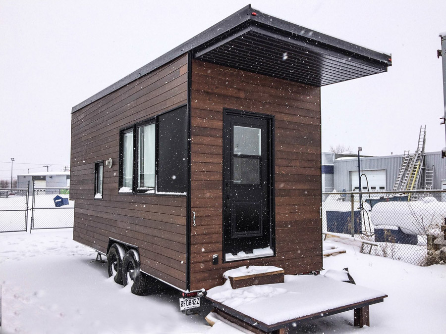 Minmaliste tiny house swoon Modern tiny homes on wheels