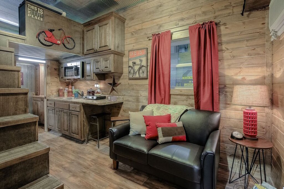 Rustic Container Cabin Custom Living 5
