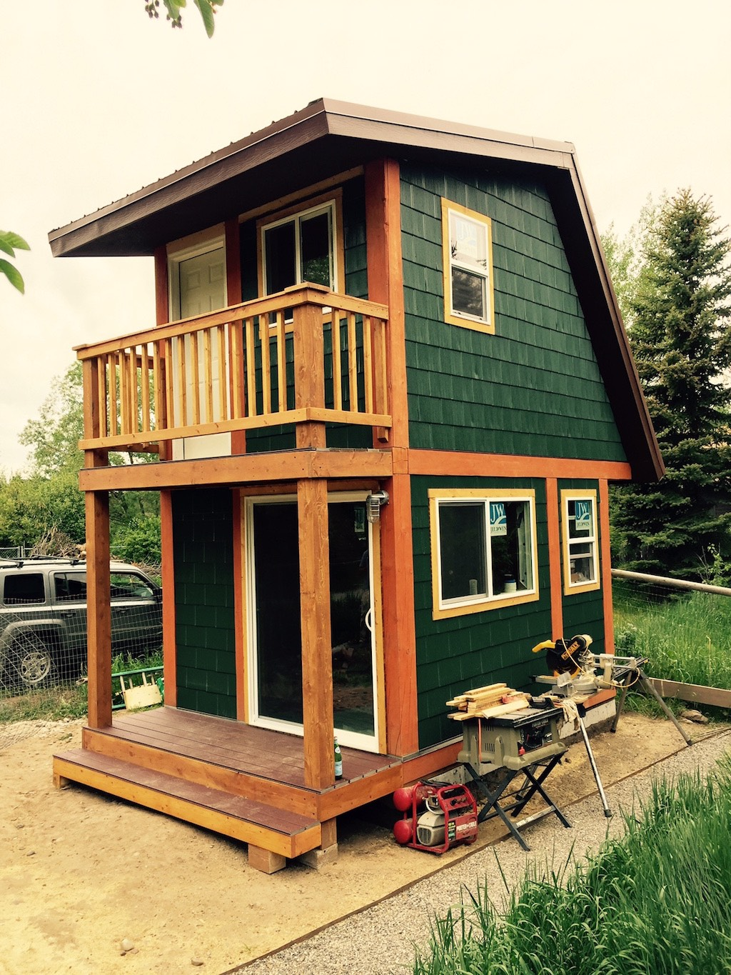 Ceramic studio tiny house swoon for Small two story house
