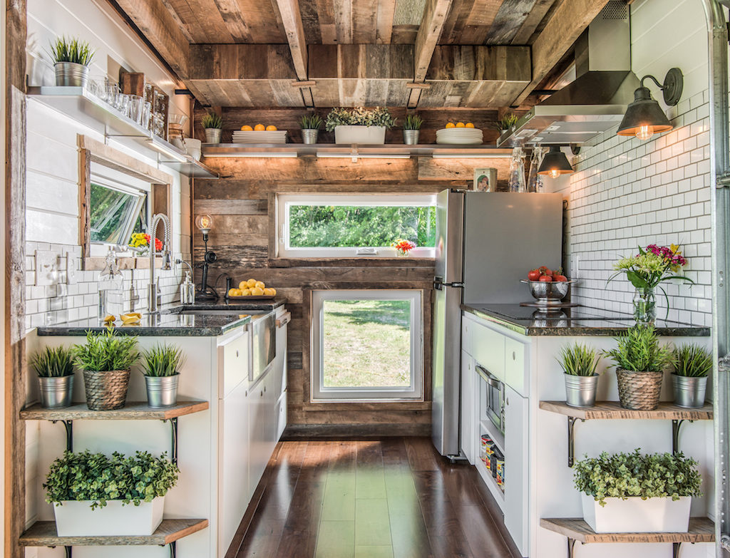 View toward kitchen the alpha tiny home by new frontier tiny homes - New Frontier Tiny House 10
