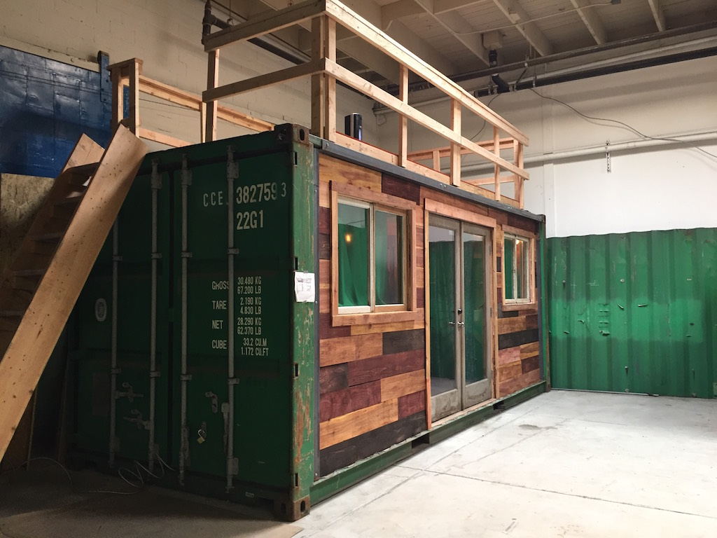 Converted shipping container tiny house swoon - How to convert a shipping container ...