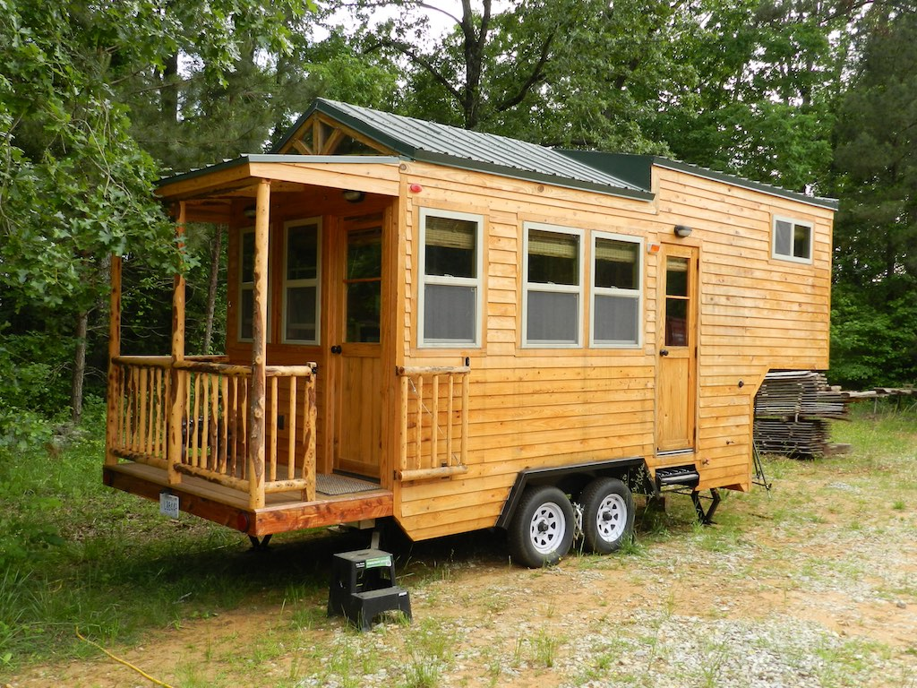 Mississippi gooseneck tiny house swoon for Micro trailer homes