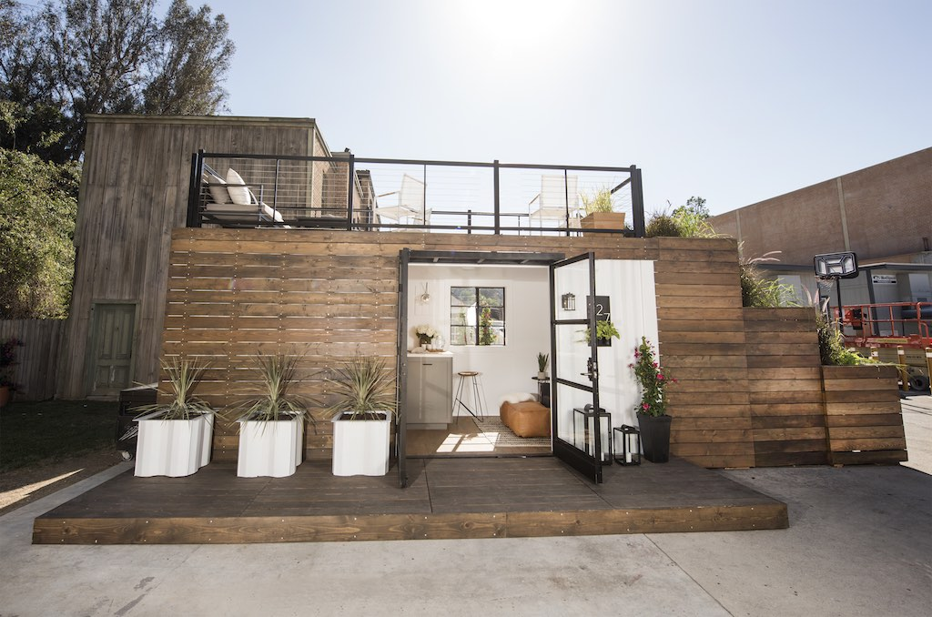 Rooftop deck container home tiny house swoon Home plans with rooftop deck