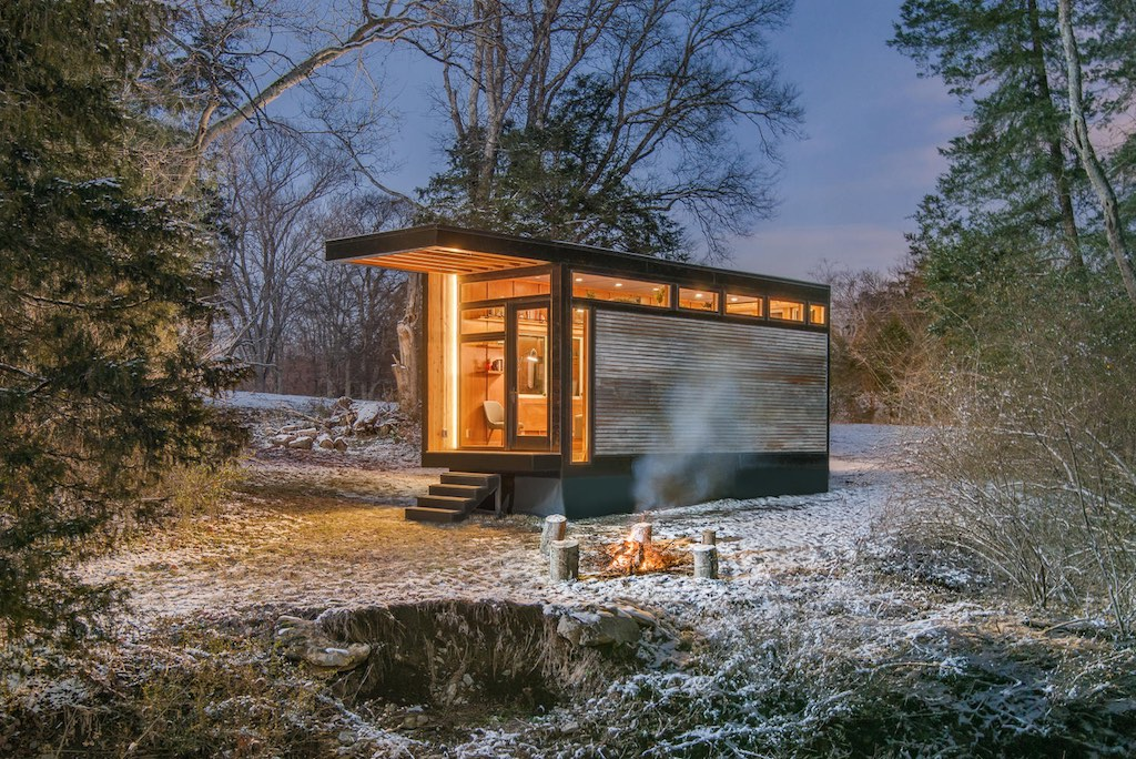 Stunning tiny house that also serves as writing studio and library by a famous writer