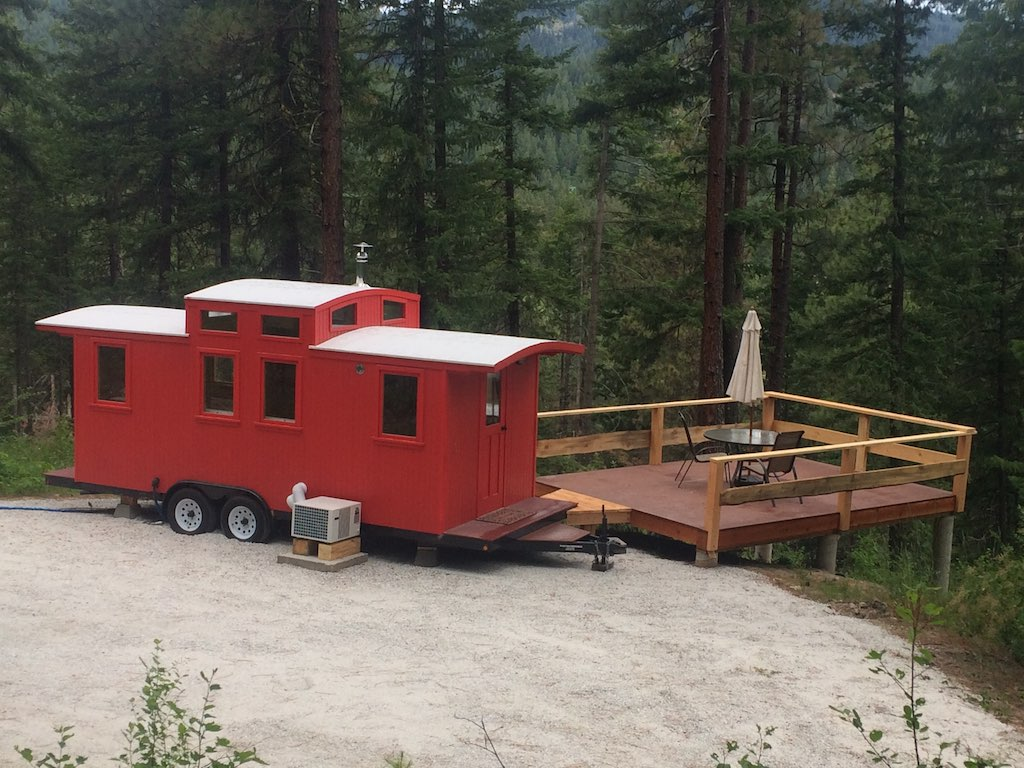 The Loose Caboose | Tiny House Swoon on caboose home plans, bobber caboose model plans, caboose interior plans, caboose construction plans, caboose diy plans, caboose cabin plans, caboose shed plans,